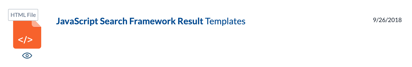 Simple HTML list result template example