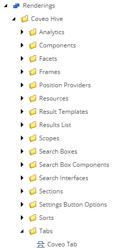 Renderings List Tabs Section