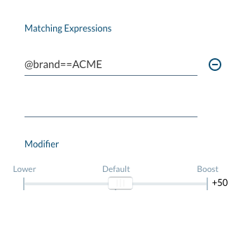 Image: Add a Ranking Expression Rule panel
