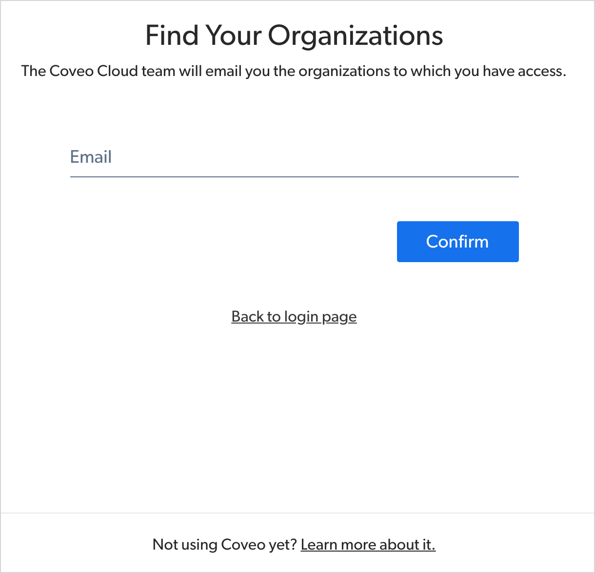SAML-FindYourOrganizations